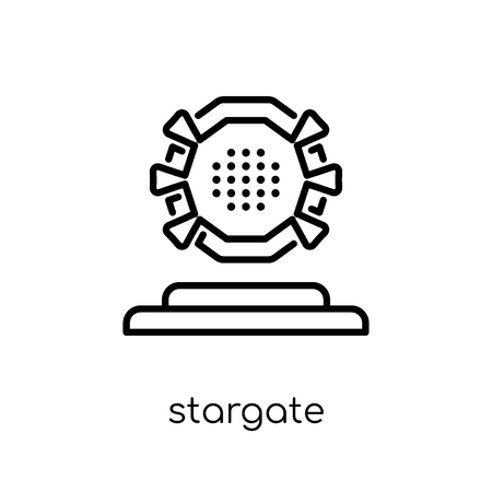 stargate icon. Trendy modern flat linear vector stargate icon on white background from thin line Astronomy collection, outline vector illustration