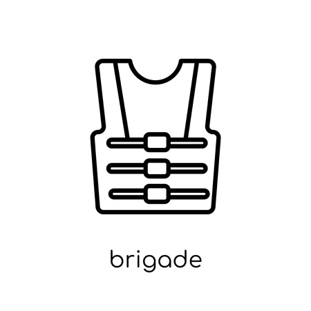 brigade icon. Trendy modern flat linear vector brigade icon on white background from thin line Army collection, outline vector illustration