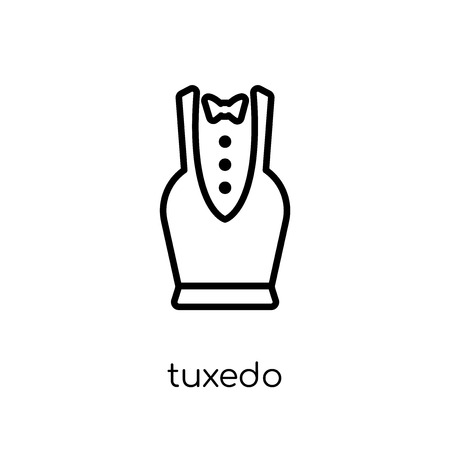 tuxedo icon. Trendy modern flat linear vector tuxedo icon on white background from thin line collection, outline vector illustration