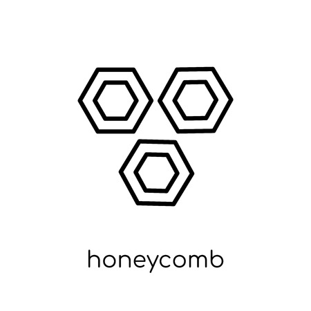 honeycomb icon. Trendy modern flat linear vector honeycomb icon on white background from thin line Agriculture, Farming and Gardening collection, outline vector illustration 向量圖像