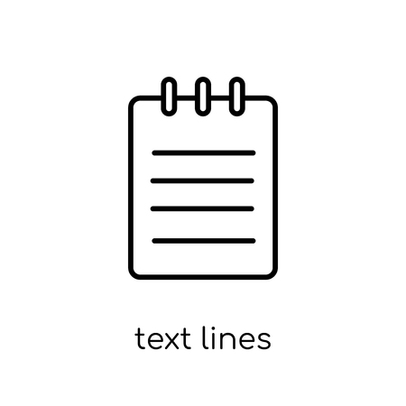 text lines icon. Trendy modern flat linear vector text lines icon on white background from thin line Communication collection, outline vector illustration 向量圖像