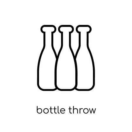 bottle throw icon. Trendy modern flat linear vector bottle throw icon on white background from thin line Circus collection, outline vector illustration