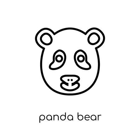 Panda bear icon. Trendy modern flat linear vector Panda bear icon on white background from thin line animals collection, editable outline stroke vector illustration