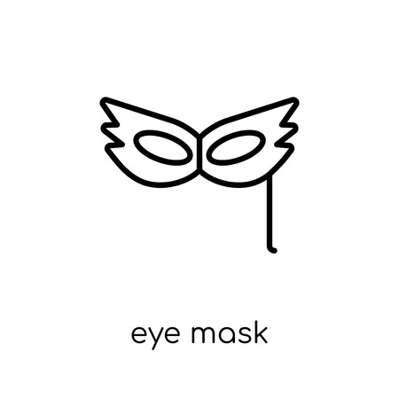 eye mask icon. Trendy modern flat linear vector eye mask icon on white background from thin line Birthday and Party collection, outline vector illustration