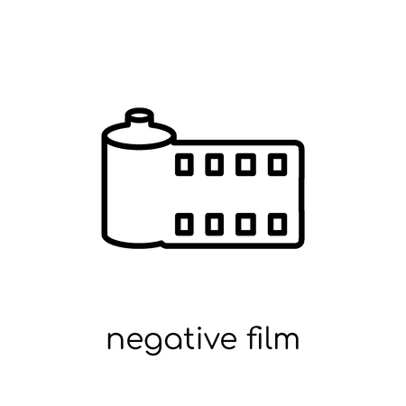 Negative film icon. Trendy modern flat linear vector Negative film icon on white background from thin line Cinema collection, editable outline stroke vector illustration