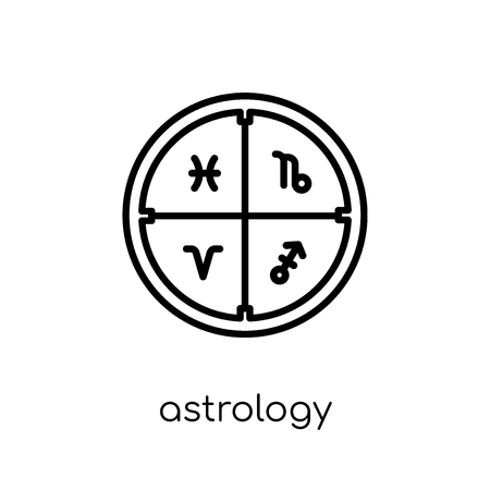 astrology icon. Trendy modern flat linear vector astrology icon on white background from thin line Astronomy collection, outline vector illustration