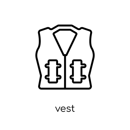 vest icon. Trendy modern flat linear vector vest icon on white background from thin line collection, outline vector illustration