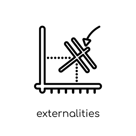 externalities icon. Trendy modern flat linear vector externalities icon on white background from thin line Externalities collection, outline vector illustration