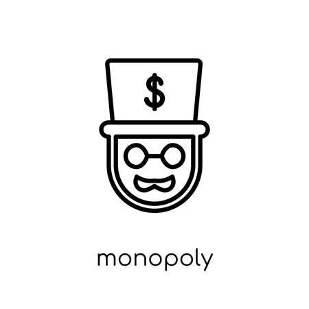 Monopoly icon. Trendy modern flat linear vector Monopoly icon on white background from thin line Business collection, editable outline stroke vector illustration