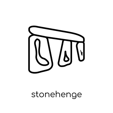 Stonehenge icon. Trendy modern flat linear vector Stonehenge icon on white background from thin line Architecture and Travel collection, editable outline stroke vector illustration