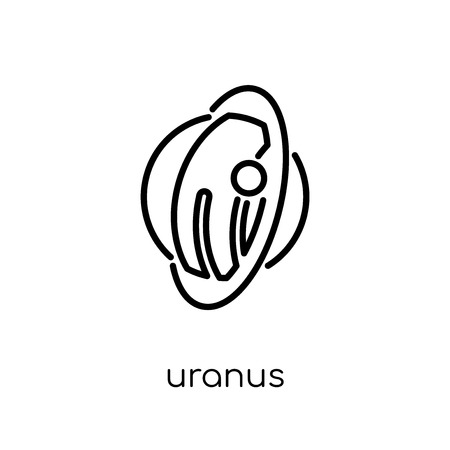 uranus icon. Trendy modern flat linear vector uranus icon on white background from thin line Astronomy collection, outline vector illustration 向量圖像