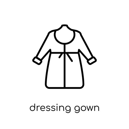 dressing gown icon. Trendy modern flat linear vector dressing gown icon on white background from thin line Dressing Gown collection, outline vector illustration