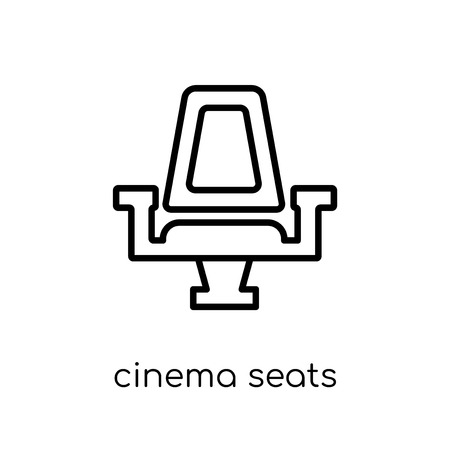 Cinema seats icon. Trendy modern flat linear vector Cinema seats icon on white background from thin line Cinema collection, editable outline stroke vector illustration