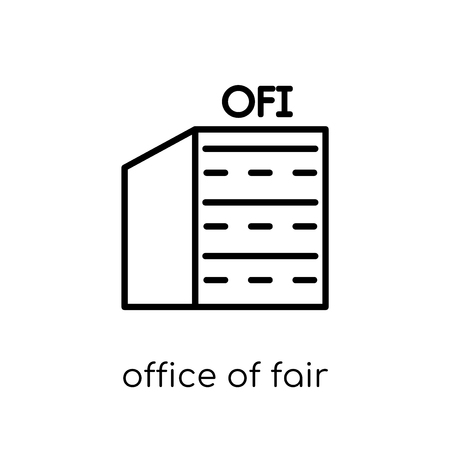 office of fair trading (oft) icon. Trendy modern flat linear vector office of fair trading (oft) icon on white background from thin line Business collection, outline vector illustration