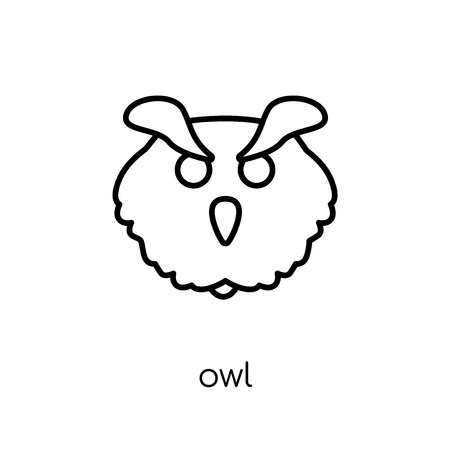 Owl icon. Trendy modern flat linear vector Owl icon on white background from thin line animals collection, editable outline stroke vector illustration