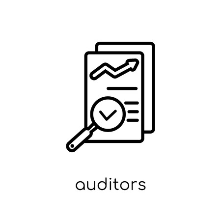 auditors icon. Trendy modern flat linear vector auditors icon on white background from thin line Auditors collection, outline vector illustration Illustration