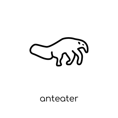 Anteater icon. Trendy modern flat linear vector Anteater icon on white background from thin line animals collection, editable outline stroke vector illustration
