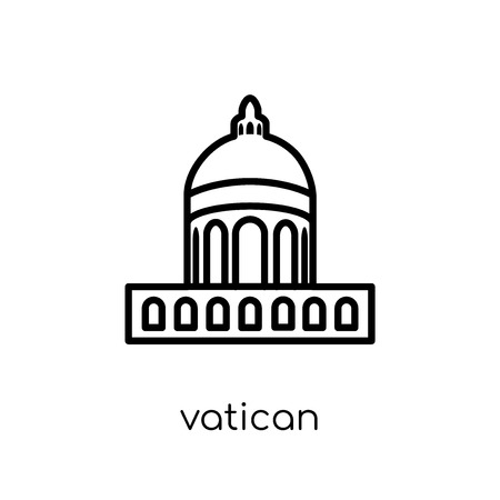 Vatican icon. Trendy modern flat linear vector Vatican icon on white background from thin line Architecture and Travel collection, editable outline stroke vector illustration Standard-Bild - 112418858