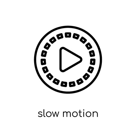 slow motion icon. Trendy modern flat linear vector slow motion icon on white background from thin line Cinema collection, editable outline stroke vector illustration