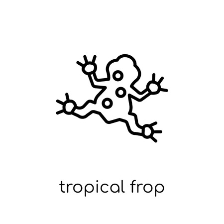 Tropical Frop icon. Trendy modern flat linear vector Tropical Frop icon on white background from thin line animals collection, editable outline stroke vector illustration