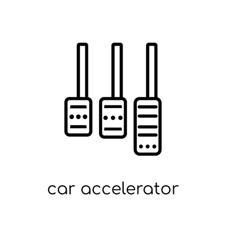 car accelerator icon. Trendy modern flat linear vector car accelerator icon on white background from thin line Car parts collection, outline vector illustration Illustration