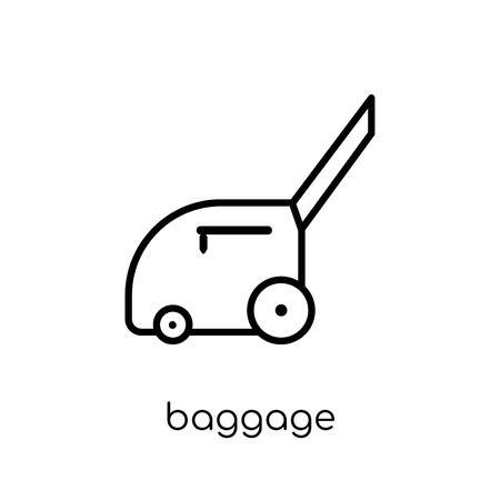 Baggage icon. Trendy modern flat linear vector Baggage icon on white background from thin line Architecture and Travel collection, editable outline stroke vector illustration 向量圖像