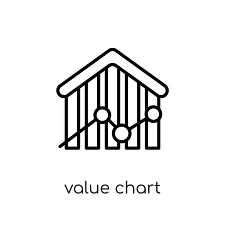 Value Chart icon. Trendy modern flat linear vector Value Chart icon on white background from thin line Business and analytics collection, editable outline stroke vector illustration