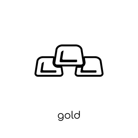 Gold icon. Trendy modern flat linear vector Gold icon on white background from thin line Business collection, editable outline stroke vector illustration Stock Vector - 112419212