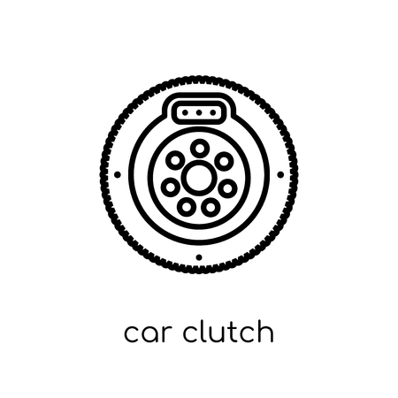 car clutch icon. Trendy modern flat linear vector car clutch icon on white background from thin line Car parts collection, outline vector illustration Ilustração