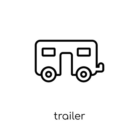 trailer icon. Trendy modern flat linear vector trailer icon on white background from thin line Circus collection, outline vector illustration 向量圖像