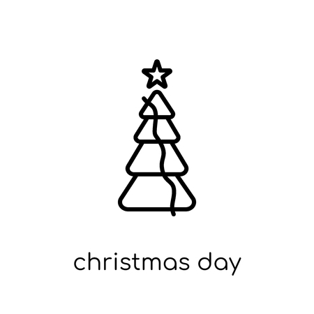 christmas day icon. Trendy modern flat linear vector christmas day icon on white background from thin line Christmas collection, outline vector illustration 版權商用圖片 - 112419267