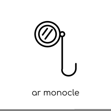 ar monocle icon. Trendy modern flat linear vector ar monocle icon on white background from thin line Artificial Intelligence, Future Technology collection, outline vector illustration