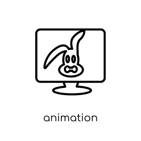animation icon. Trendy modern flat linear vector animation icon on white background from thin line Cinema collection, editable outline stroke vector illustration Illustration