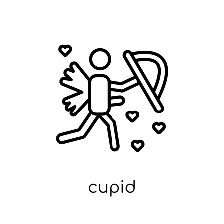 cupid icon. Trendy modern flat linear vector cupid icon on white background from thin line Wedding and love collection, outline vector illustration