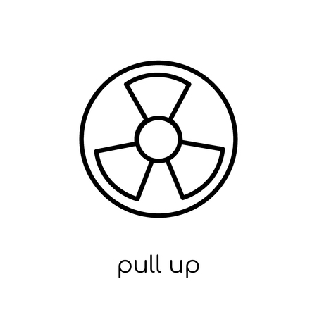 pull up icon. Trendy modern flat linear vector pull up icon on white background from thin line Army collection, outline vector illustration Çizim