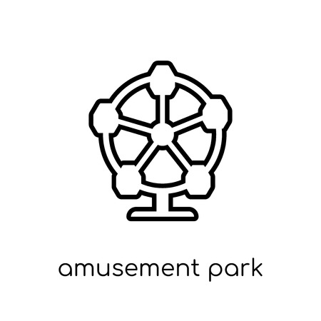 amusement park icon. Trendy modern flat linear vector amusement park icon on white background from thin line Circus collection, outline vector illustration