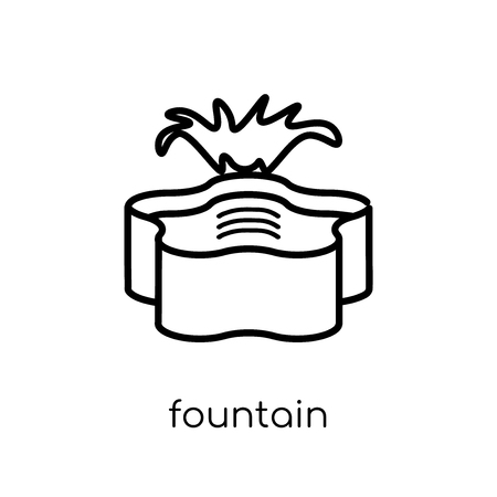 Fountain icon. Trendy modern flat linear vector Fountain icon on white background from thin line Architecture and Travel collection, editable outline stroke vector illustration