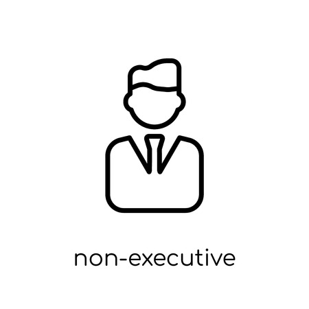 Non-executive director icon. Trendy modern flat linear vector Non-executive director icon on white background from thin line Business collection, editable outline stroke vector illustration