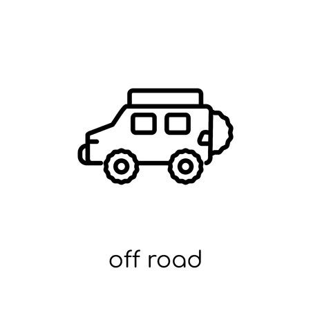 off road icon. Trendy modern flat linear vector off road icon on white background from thin line Transportation collection, outline vector illustration
