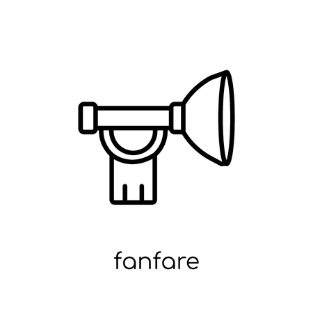 Fanfare icon. Trendy modern flat linear vector Fanfare icon on white background from thin line Fairy Tale collection, editable outline stroke vector illustration Reklamní fotografie - 112279191