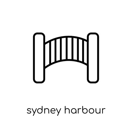 sydney harbour bridge icon. Trendy modern flat linear vector sydney harbour bridge icon on white background from thin line Australia collection, outline vector illustration