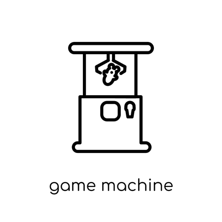 game machine icon. Trendy modern flat linear vector game machine icon on white background from thin line Arcade collection, outline vector illustration Reklamní fotografie - 111331289