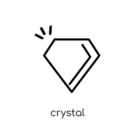 crystal icon. Trendy modern flat linear vector crystal icon on white background from thin line Arcade collection, outline vector illustration