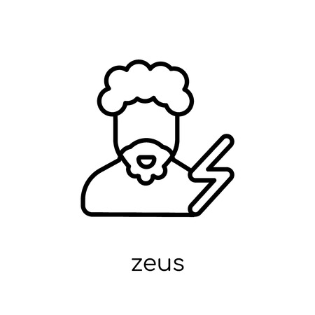 Zeus icon. Trendy modern flat linear vector Zeus icon on white background from thin line Fairy Tale collection, editable outline stroke vector illustration