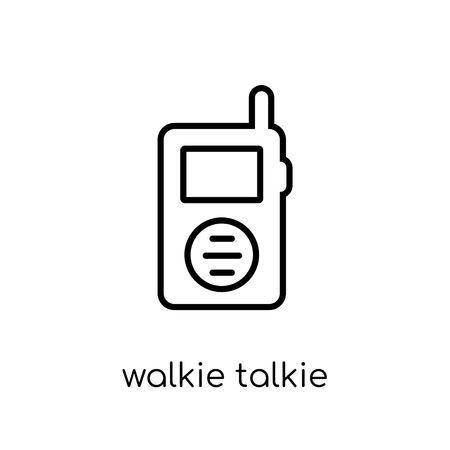 walkie talkie icon. Trendy modern flat linear vector walkie talkie icon on white background from thin line Electronic devices collection, outline vector illustration Banque d'images - 112276942