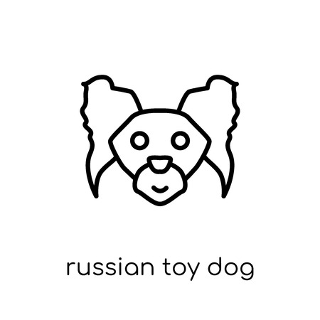 Russian Toy dog icon. Trendy modern flat linear vector Russian Toy dog icon on white background from thin line dogs collection, editable outline stroke vector illustration