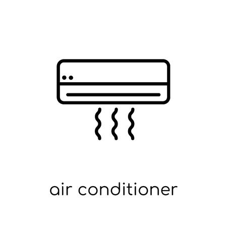 Icône de climatiseur. Icône moderne dernier cri de climatiseur plat linéaire vectoriel sur fond blanc de la mince ligne collection d'appareils électroniques, illustration de vecteur editable contour AVC