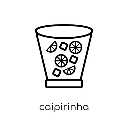 caipirinha icon. Trendy modern flat linear vector caipirinha icon on white background from thin line Drinks collection, outline vector illustration 向量圖像