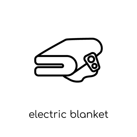 electric blanket icon. Trendy modern flat linear vector electric blanket icon on white background from thin line Electronic devices collection, editable outline stroke vector illustration
