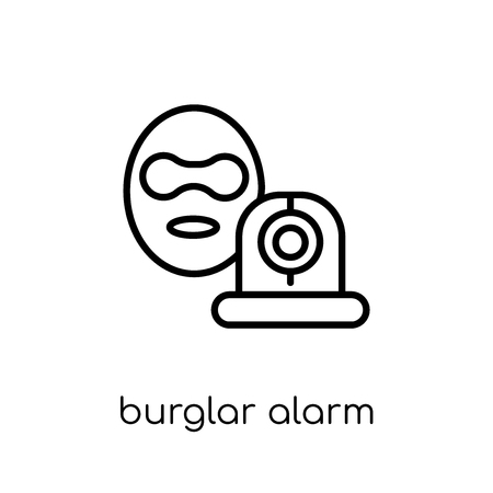 burglar alarm icon. Trendy modern flat linear vector burglar alarm icon on white background from thin line Electronic devices collection, editable outline stroke vector illustration